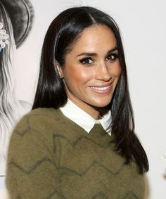 Meghan Markle Has Always Had An Affinity For Straight Hair —& Here's Proof +#refinery29