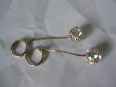 14K Heart Yellow Gold Earrings Vintage Karat KT Solid Pierced Post Italy