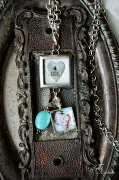 Mother's Love charm with Sterling Silver Locket and Turquoise Oval www.bcharmed.com