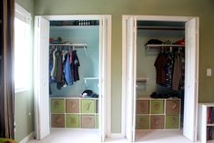 There's always space for more in your closet, if you're clever about it! Check out these 30 hacks! #diy #declutter #closetroom Kids Clothes Storage, Kids Clothes Organization, Closet Storage, Closet Organization, Organization Ideas, Storage Bins, Closet Bedroom, Closet Space, Reading Loft