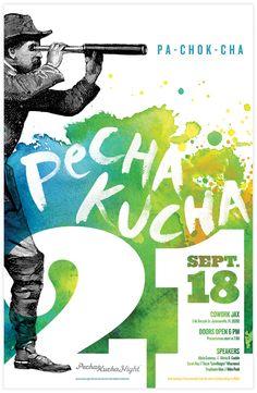 Jacksonville Pecha Kucha by Karen Kurycki, via Behance