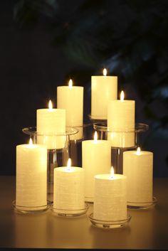 Utilisez les Piliers Glolite pour illuminer votre intérieur, faiblement parfumés.