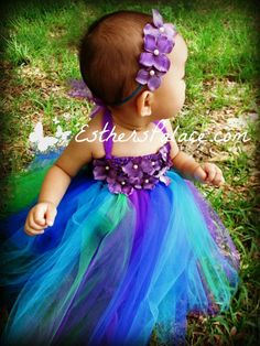 Peacockinspired TuTu Dress for Girls  Floor by EsthersPalace, $28.00