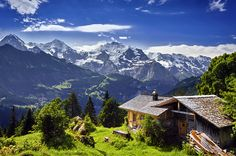 Photo about Idyllic mountain panorama in Switzerland. Image of climbing, bernese, landscape - 27625337 Beautiful World, Beautiful Places, European Destination, Swiss Alps, Amazing Nature, Belle Photo, Beautiful Landscapes, Places To See, The Good Place