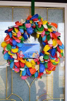 Balloon wreath #balloon #wreath