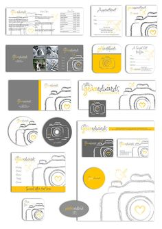 Photography business forms kit and marketing set by AquariusLogos, $58.00