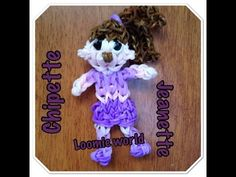 Rainbow Loom Alvin and the Chipmunks Chipette - JEANETTE figure. Designed and loomed by Tash Webber at Loomie World. Click photo for YouTube tutorial. 08/24/14.