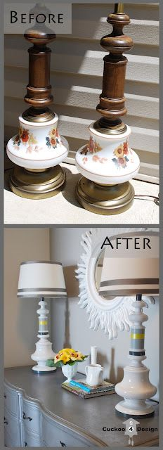 painting ugly lamps