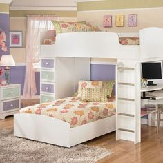 #KBHome lovely cute teenage girl bedroom design ideas.
