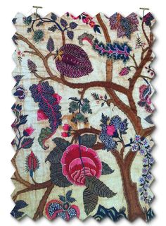 Embroidery, mid 18th century