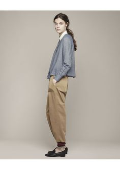 BOY BY BAND OF OUTSIDERS | Contrast Collar Shirt | Shop at La Garçonne