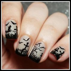 A012 Happy Halloween Stamping Plate For Stamped Nail Art Design | eBay