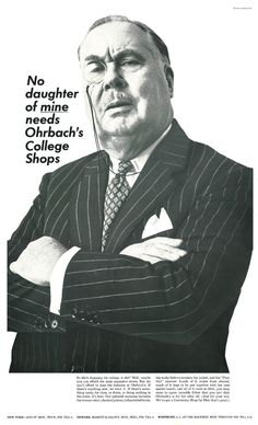 No daughter of mine needs Ohrbach's College Shops