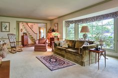 Amazing living room - Home has over 3,300 sf, 4 BR & a 1st floor owner's suite. Located in #Palmyra #PA this home is available for purchase.