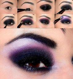 Maquillage pour les yeux bruns photo