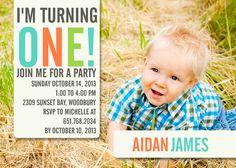 Big One Fun - photoaffections.com #photoaffections #boybirthday #birthdayinvitation #invitation #birthdayboy #birthday