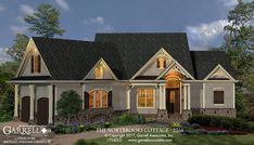 The Northbrooks Cottage - 2266 House Plan 17043. Design by Michael William Garrell of Garrell Associates, Inc. http://www.garrellassociates.com/floorplans/northbrooks-cottage-2266