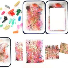 Floating Chalk Impressionist Paintings 4