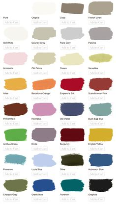 Annie Sloan Chalk Paint - colour chart