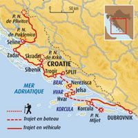 Circuit carte Croatie : Parcs nationaux et îles dalmates