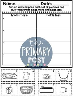 Teaching Measurement, Kindergarten Measurement, teaching height, length, weight, capacity, Measurement Worksheets Measurement Kindergarten, Measurement Worksheets, Teaching Math, Student, Activities, Education, Shop, College Students, Learning