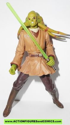 star wars action figures KIT FISTO 2002 complete attack of the clones saga aotc