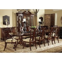 Fine Furniture Design American Cherry Extendable Walnut Solid Wood Dining Table | Perigold