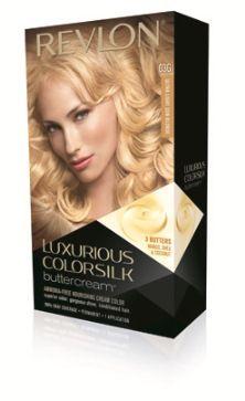Revlon Luxurious ColorSilk Buttercream Haircolor in Ultra Light Sun Blonde Shade 03G #haircolortalks