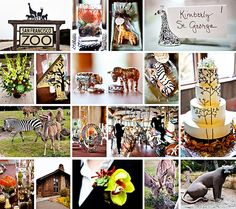 zoo wedding - very cool cake and the centerpieces are pretty amazing too