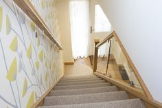 Staircases come in all shapes & sizes. Even small staircases can be renovated with glass to make your hallway feel bigger & give your home the wow-factor. Small Staircase, Grand Staircase, Staircase Design, Staircase Ideas, Hallway Ideas, Bespoke Staircases, Glass Stairs, Clever Design, Basement Remodeling