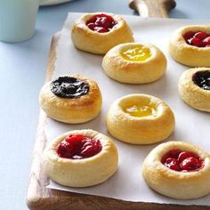 This kolache recipe was given to me by my mother-in-law, who received it from her mother! It was a standard treat in their family, made nearly every week. Now I make these kolaches for my own family for special occasions. Baking Recipes, Cookie Recipes, Dessert Recipes, Pie Recipes, Czech Recipes, Slovak Recipes, Gula, Strudel, Snacks