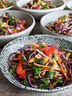 Thai nudelsalat Tex Mex, Kung Pao Chicken, Pasta Salad, Tapas, Nom Nom, Snacks, Ethnic Recipes, Nutrition, Food