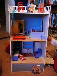 Some general homemade gift ideas... dress-up trunk, bookcase dollhouse, growth chart, snowman kit, story set, etc.