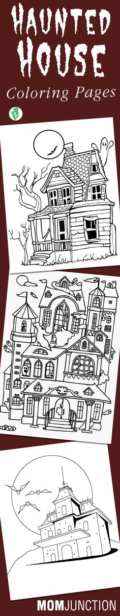 Top 10 Haunted House Coloring Pages For Your Little Ones: These coloring pages can be quite fun if your child loves to hear ghost stories.