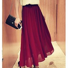 Women's Fashion Pleated Long Skirt