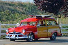 Ford Woody Wagon◆ Brought to you by in Eugene OR Ford Classic Cars, Classic Trucks, Vintage Trucks, Old Trucks, Station Wagon Cars, Woody Wagon, Classic Motors, Us Cars, Custom Cars