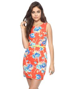 Bold Floral Sheath Dress | FOREVER21 - 2000041557