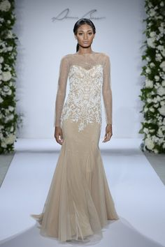 Pin for Later: Would You Be a Brave Bride in a Coloured Wedding Dress? Go For Gold Dennis Basso for Kleinfeld