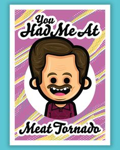 "Austin Gilmore ""Meat Tornado"" Print Parks N Rec, Memorial Day, Digital Prints, Meat, Fingerprints"