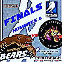 Final Hombres A #LO2015 #Bears vs #Draco viernes 8/7/2016 17hs @perubeachrollerhockeyarena #entradalibre #hockey http://ift.tt/29nWD0z - http://ift.tt/1HQJd81