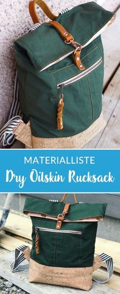 Dry Oilskin Backpack by Mimi sews - Backpack made of Dry Oilskin with matching . - Dry Oilskin Backpack by Mimi sews – Backpack made of Dry Oilskin with matching … – - Diy Bag Painting, Backpacking For Beginners, Kids Harem Pants, Diy Backpack, Travel Backpack, Bags Travel, Diy Bags Purses, Diy Handbag, Creation Couture