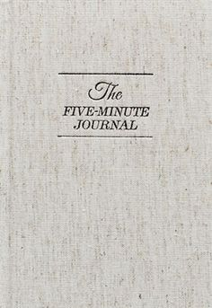 fiveminutejournal | The Five Minute Journal is a physical journal that has been careful...