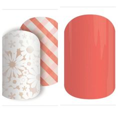 Jamberry Picnic Party and Grapefruit Jamberry Style, Jamberry Combos, Jamberry Nail Wraps, Funky Nails, Cute Nails, Pretty Nails, Colorful Nail Designs, Cute Nail Designs, Manicure At Home