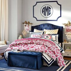 Love the Navy and Pink theme!!