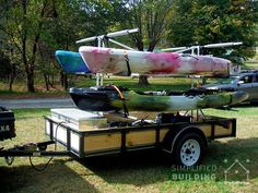 Build Your Own Kayak Trailer: No Welding or Cutting Required  #KeeKlamp #DIY #kayak #trailer