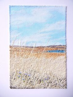 My Sweet Prairie Studio / Art by Monika Kinner-Whalen: * Fibre Art Free Motion Embroidery, Machine Embroidery Applique, Modern Embroidery, Embroidery Art, Patchwork Quilt Patterns, Fabric Postcards, Quilting Thread, Fabric Pictures, Thread Painting