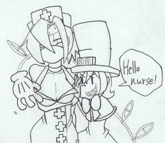 Hello nurse by tamamotiwa on DeviantArt Skullgirls, Manga Anime, Anime Art, Apple Images, Hello Nurse, Identity Art, Off Colour, Anime Girls, Cool Girl