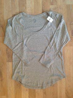 Remera de algodón gris mangas 3/4 #gap / Gray tshirt. Compra esta prenda online! www.saveweb.com.ar