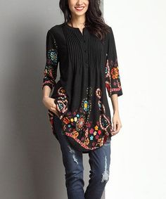 I'm so short that this tunic would be like a dress for me!! But pretty cool. Being short is cool. :)