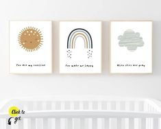 Rainbow nursery art prints from Sunny and Pretty. Nursery prints, nursery art with sun, rainbow, and cloud for baby boy. Nursery art and nursery prints to complete your nursery decor project. Our nursery wall art is made with love and is designed to reflect your nursery wall décor style. 🖤 Get excited about decorating for your little one! #sunnyandpretty Nursery Drawings, Nursery Artwork, Nursery Paintings, Nursery Prints, Rainbow Nursery Decor, Nursery Decor Boy, Nursery Themes, Nursery Décor, Nursery Ideas